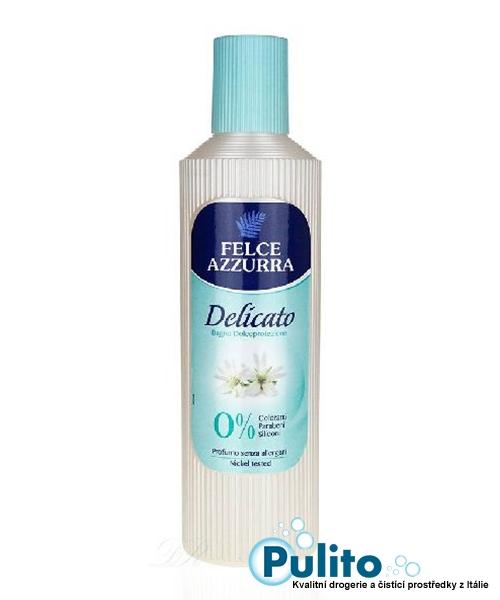Felce Azzurra Bagno Delicato, koupelová pěna na velmi citlivou pokožku 600 ml.