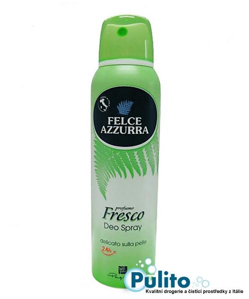 Felce Azzurra Deo Spray Fresco, tělový deodorant s obsahem pudru 150 ml.