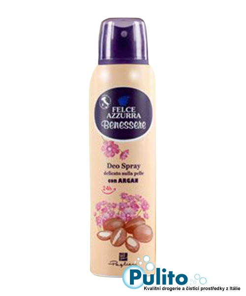 Felce Azzurra Benessere Deo Spray con Argan, tělový deodorant s Arganem 150 ml.