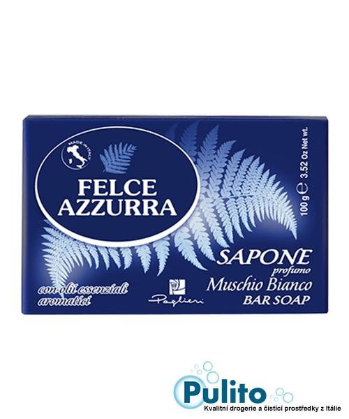 Felce Azzurra Sapone solido Muschio Bianco, toaletní mýdlo 100 g.