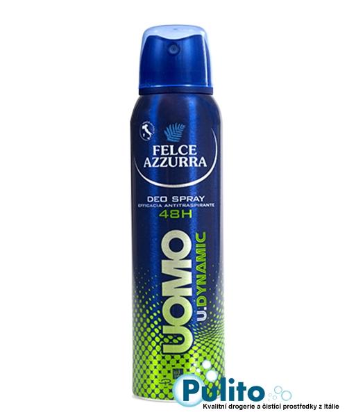 Felce Azzurra Uomo Deo Spray U.Dynamic, pánský deodorant 48 hodinová ochrana 150 ml.