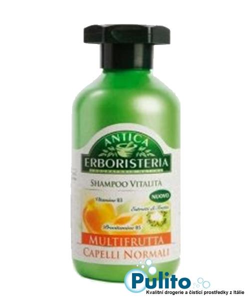 Antica Erboristeria Shampoo Multifrutta Capelli Normali, přírodní šampón na normální vlasy 250 ml.