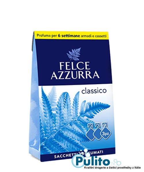 Felce Azzurra Sacchetti Profumati Classico, vonné sáčky do skříní a šuplíků 3 ks.