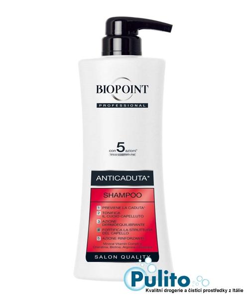 Biopoint Professional Shampoo Anticaduta, profesionální šampón proti vypadávání vlasů 400 ml.