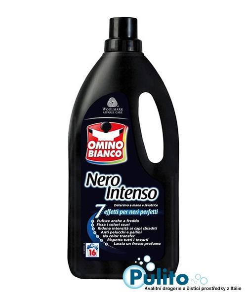 Omino Bianco Nero Intenso, prací gel na tmavé a černé oděvy, 16 pracích dávek 1 l.