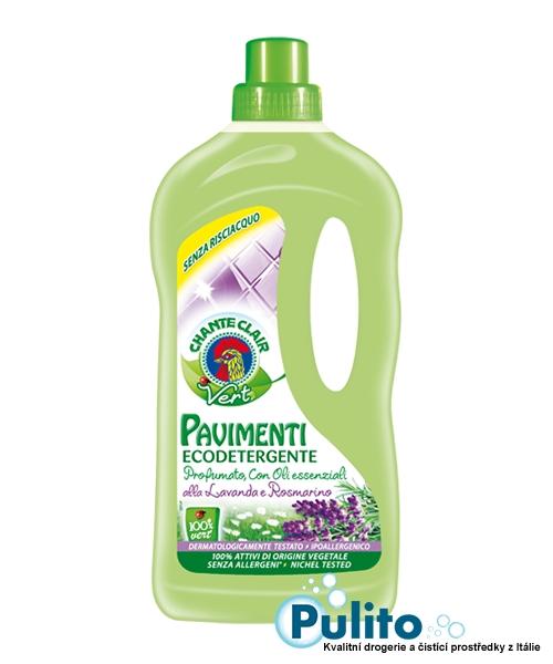 Chante Clair Vert Pavimenti Eko Lavanda e Rosmarino, ekologický čistič podlah s esenciálními oleji z levandule a rozmarýnu 1 l.