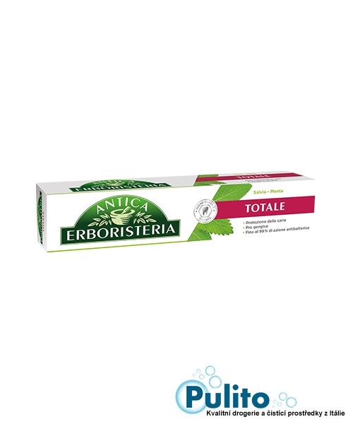 Antica Erboristeria Totale Menta & Salvia, antibakteriální zubní pasta 75 ml.