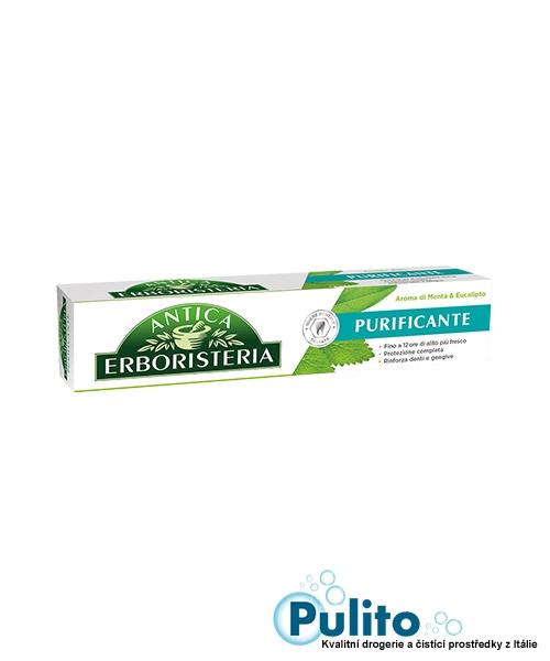 Antica Erboristeria Purificante Menta&Eucalipto, čistící zubní pasta 75 ml.