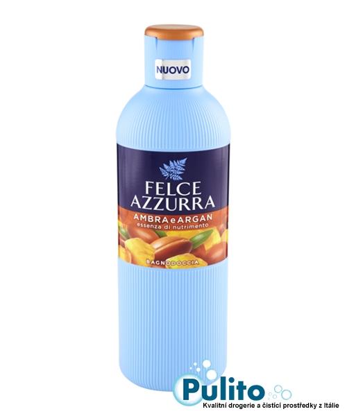 Felce Azzurra Ambra e Argan sprchový gel/koupelová pěna 650 ml.