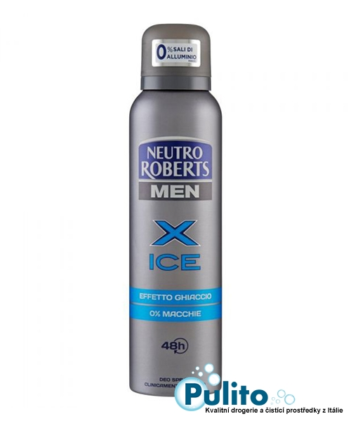 Neutro Roberts Men Deo Spray X Ice, tělový pánský deodorant 150 ml.