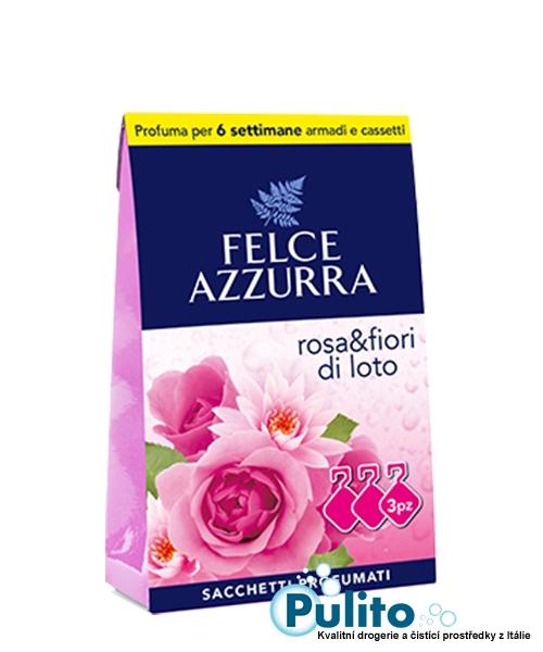 Felce Azzurra Sacchetti Profumati Rosa e Fior di Loto, vonné sáčky do skříní a šuplíků 3 ks.