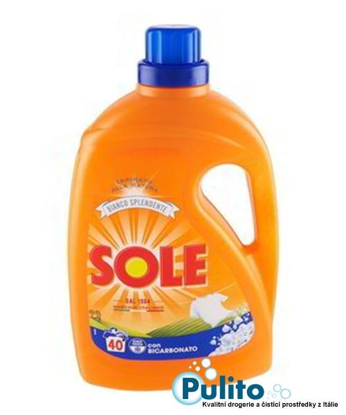 Sole con Bicarbonato, prací gel s bikarbonátem 2 l., 40 pracích dávek