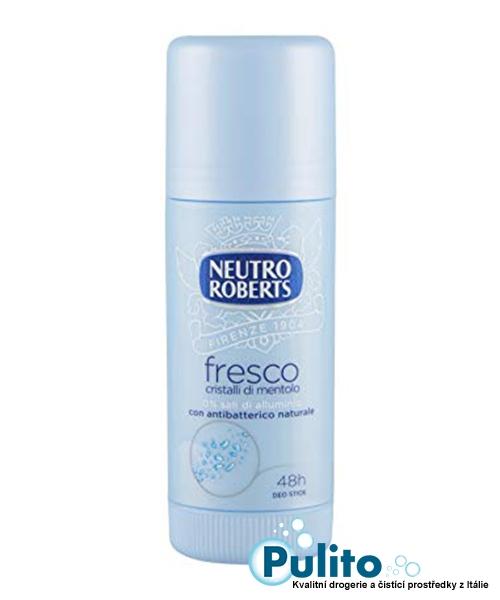 Neutro Roberts Deo Stick Fresco Cristalli di mentolo, tuhý tělový deodorant s krystalky mentolu bez hliníkových solí, 40 ml.
