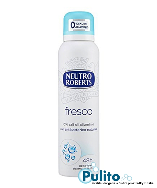 Neutro Roberts Deo Spray Fresco, tělový deodorant ve spreji bez hliníkových solí 150 ml.