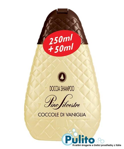 Pino Silvestre Coccole di Vaniglia sprchový gel/vlasový šampon 250 ml.