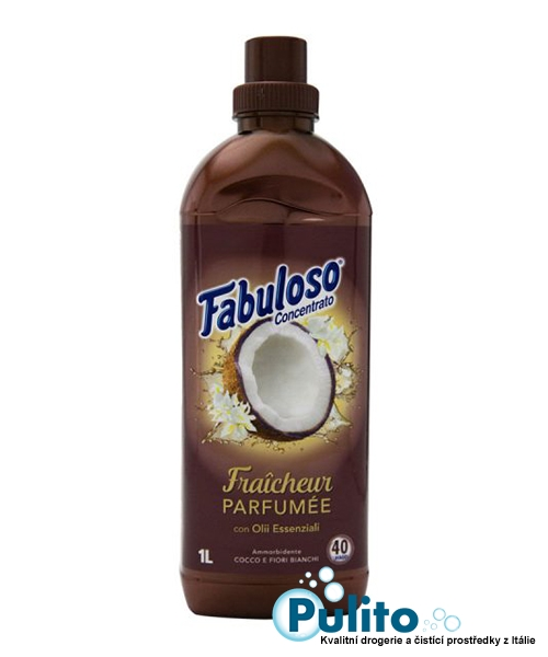 Fabuloso Ammorbidente Fraicheur Parfumée Cocco e Fiori bianchi, aviváž koncentrát 1 l.