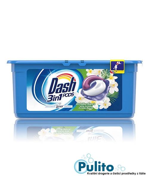 Dash 3v1 PODS Orchidea Bianca gelové kapsle s aviváží Lenor 30 ks.