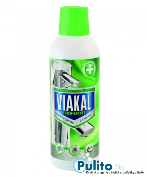 Viakal Igienizzante, parfémovaný gel na rez a vodní kámen 515 ml.