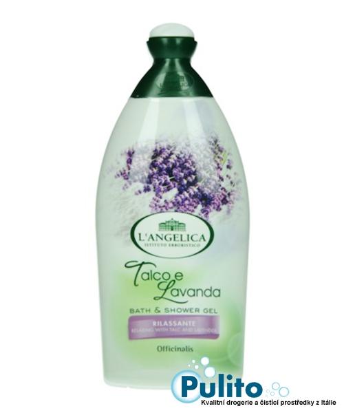 L´Angelica Officinalis Talco e Lavanda, relaxační sprchový gel/koupelová pěna 500 ml.