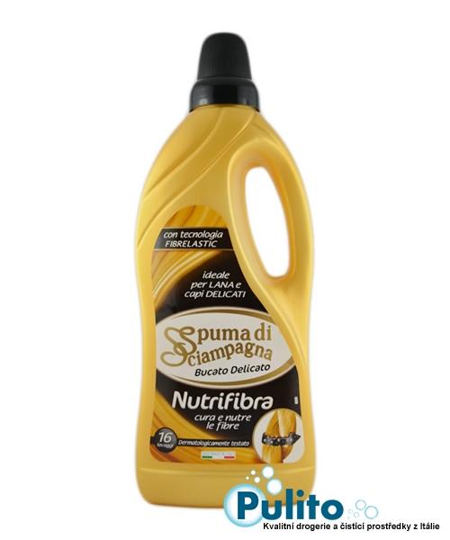Spuma di Sciampagna Bucato Delicato Nutrifibra, prací gel na vlnu a delikátní oděvy 1 l., 16 pracích dávek