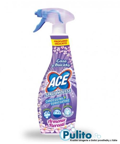 Ace Spray Mousse Candeggina+Sgrassatore Armonie Floreali, univerzální chlórový pěnový čistič 750 ml.