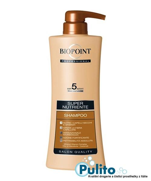 Biopoint Professional Shampoo Super Nutriente, super výživný šampón na vlasy 400 ml.