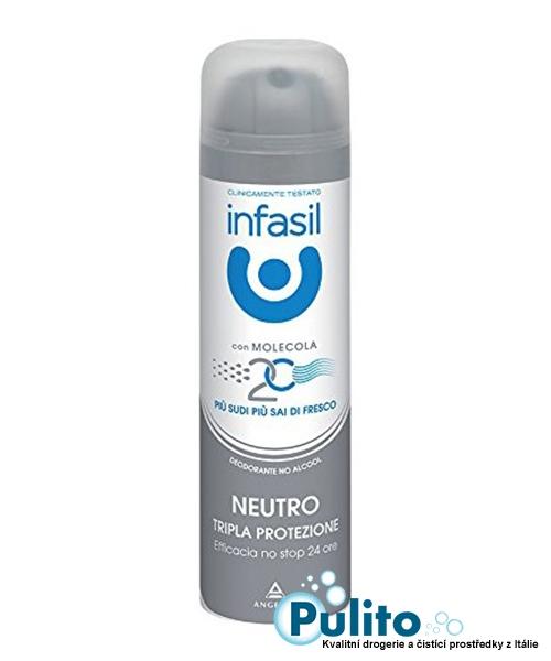 Infasil Deo Spray Neutro Tripla Protezione, tělový deodorant 150 ml.