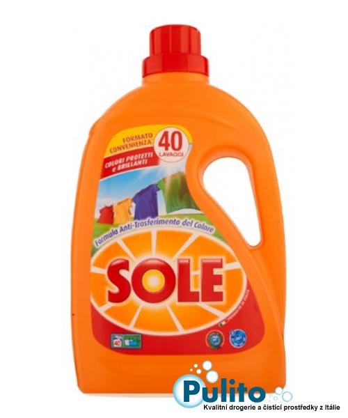 Sole Proteggi Colore con Olio di Argan, prací gel na barevné prádlo s arganovým olejem 2 l., 40 pracích dávek