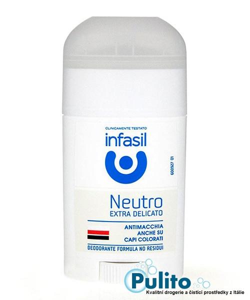 Infasil Deo Stick Neutro Extra Delicato, extra jemný tuhý deodorant 50 ml.