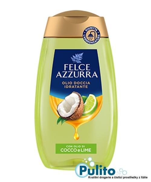 Felce Azzurra Olio Doccia Cocco e Lime, sprchový olej 250 ml.