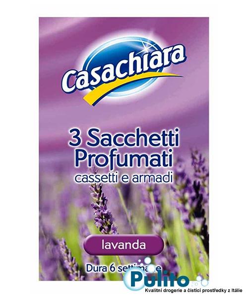 Casachiara Sacchetti Profumati Lavanda, parfémované vůně do skříní a zásuvek 3 ks.