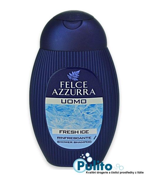 Felce Azzurra Uomo Fresh Ice, pánský osvěžující sprchový šampón 250 ml.