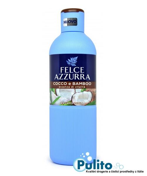 Felce Azzurra Cocco e Bamboo sprchový gel/koupelová pěna 650 ml.