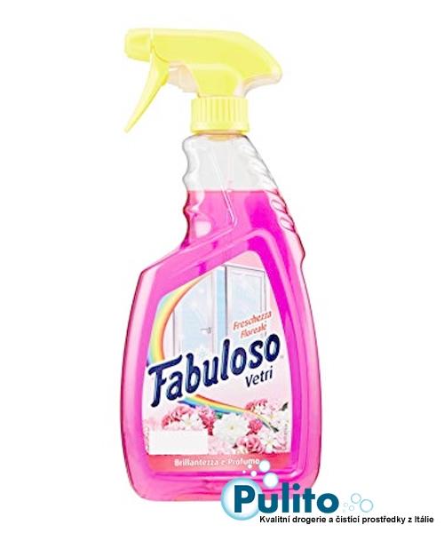 Fabuloso Vetri Freschezza Floreale, čisticí prostředek na okna a lesklé povrchy 600 ml.