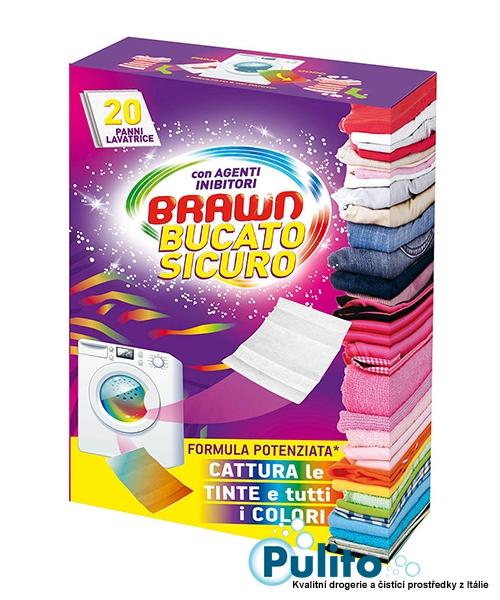 Brawn Bucato Sicuro ubrousky proti zabarvení prádla 20 ks.