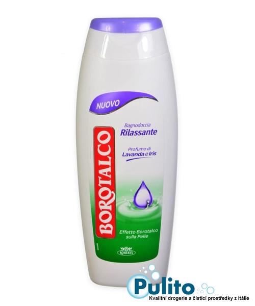 Borotalco sprchový gel/pěna do koupele Lavanda e Iris s vůní levandule a kosatce 700 ml.