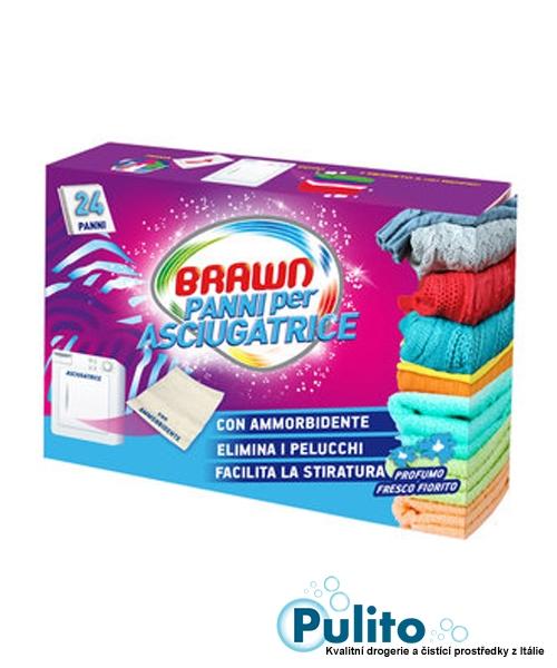 Parfémované ubrousky do sušičky Brawn, 24 ks.