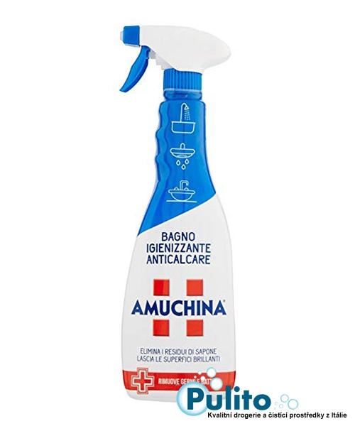 Amuchina Bagno Igienizzante Anticalcare, dezinfekční přípravek na rez a vodní kámen 750 ml.