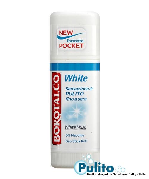 Borotalco tuhý kuličkový deodorant White Musk s antibakteriálním složením 40 ml.
