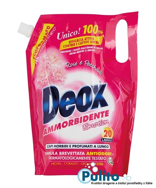 Deox Emotion Rosa e Patchouli aviváž koncentrát 1 l., 20 pracích dávek