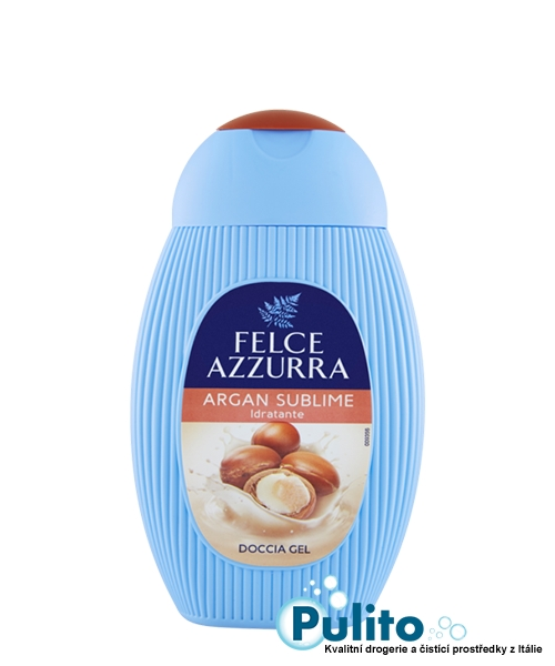 Felce Azzurra Idratante Argan Sublime, hydratační sprchový gel s arganovým olejem 250 ml.