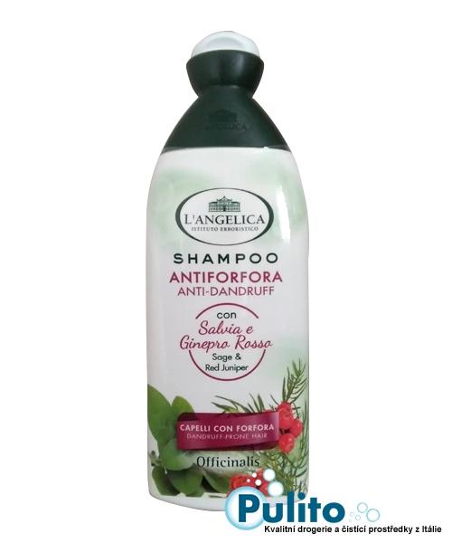 L´Angelica šampon Antiforfora Salvia e Ginepro rosso 250 ml.