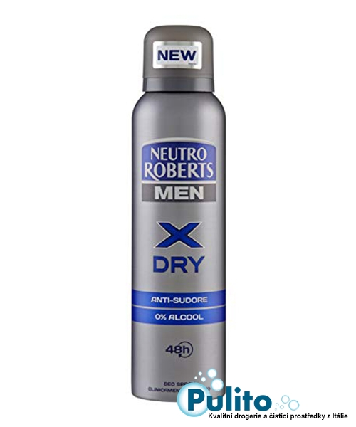 Neutro Roberts Men Deo Spray X Dry, pánský deodorant 150 ml.