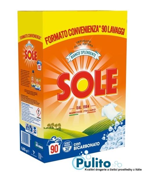 Sole con Bicarbonato, prací prášek s bikarbonátem 90 pracích dávek 5,625 kg.