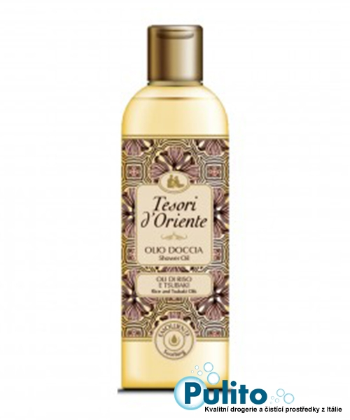 Tesori d´Oriente sprchový olej s rýžovými oleji a Tsubaki olejem 250 ml.