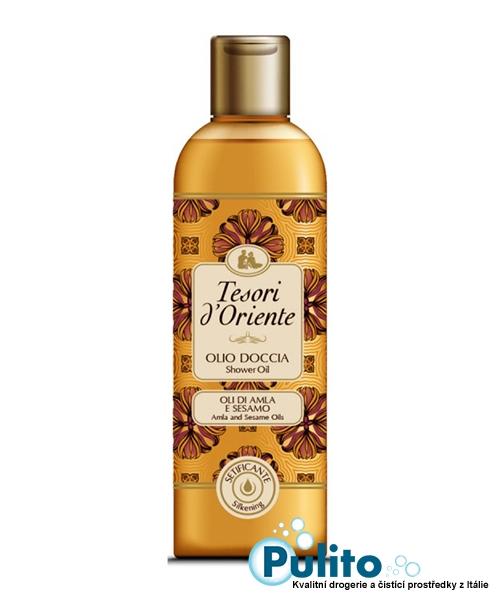 Tesori d´Oriente sprchový olej s Amla olejem a sezamovým olejem 250 ml.