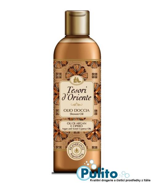 Tesori d´Oriente sprchový olej s arganovým a šáchorovým olejem 250 ml.